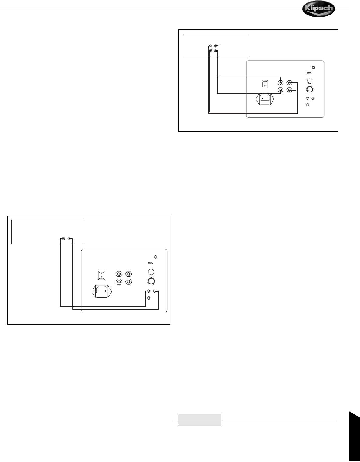 Klipsch Reference Sub käyttöohje (24 sivut) on klipsch reference wiring diagram, jbl wiring diagram, 6 pin din cable connection diagram, infinity dual voice coil wiring diagram, speakers wiring diagram, schematic circuit diagram, klipsch vf 35 tower speaker, klipsch synergy diagram 12, klipsch promedia 2 1 power switch, 5 channel amp wiring diagram, 2 channel amp wiring diagram, sub woofer wiring diagram, klipsch 2 1 sub woofer pin out,